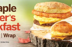 Maple-Flavored Breakfast Wraps - Tim Hortons' New Breakfast Wrap Features the Sweet Taste of Maple