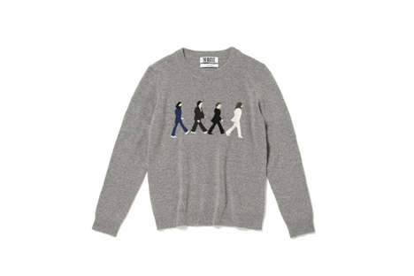 Retro Rock Band Apparel - These Sweaters Tribute the 50th Anniversary of the Beatles in Japan