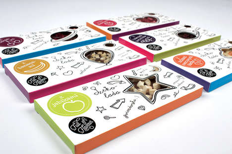 Transparent Chocolate Packaging - 'Full of Flavor' Uses Illustrations to Represent Its Contents