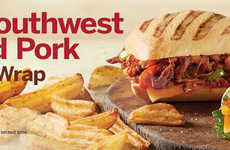 Smoky Pull Pork Sandwiches - Tim Hortons' New Southwest Pulled Pork is Available as a Wrap or Panini