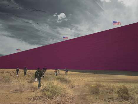 Architectural Barrier Walls - 'Prison-Wal' Turns a Controversial Idea into a Celebration of Mexico