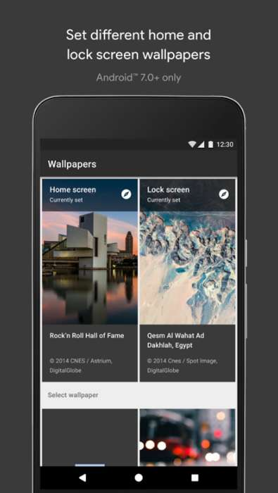 Informative Wallpaper Apps - The Google Pixel's Wallpapers App Lets You Explore Photographers' Works