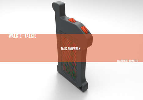 Rugged Communication Radios - The 'Talk and Walk' Walkie Talkie is Crafted for Demanding Jobs