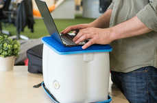 Inflatable Standing Desks - The Portable YoUP Turns Any Surface into a Standing Desk