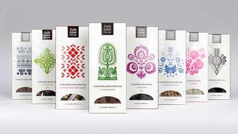 Folk-Inspired Chocolate Branding