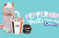 Minty Sandwich Cookie Shakes - A&W is Gearing Up for the Holidays with Its Peppermint Oreo Treats