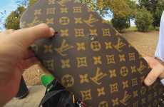 Luxury Fashion Skateboards - Braille Skateboarding Featured a Deck with a Louis Vuitton Design