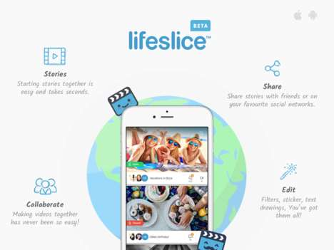 Collaborative Social Video Apps - 'Lifeslice' Enables Collaborative Video Creation Between Friends