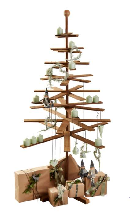 Sustainable Wooden Holiday Trees