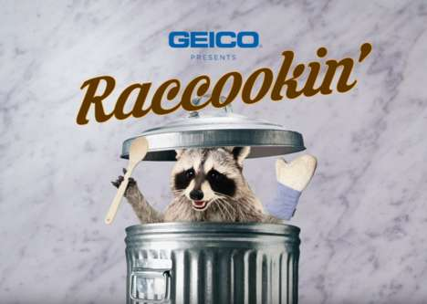 Raccoon Cooking Tutorials - Geico's 'Raccookin' Ads Feature Raccoons Parodying Food Tutorials