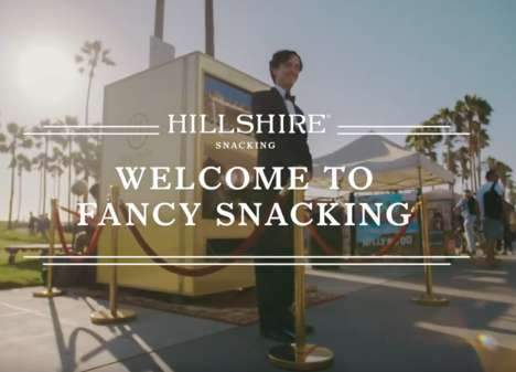 Curated Snacking Experiences - The Hillshire Snacking Vending Machine Has a Maitre D' and Butler