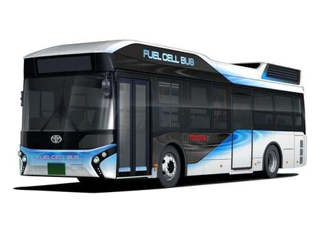 Hydrogen Fuel Cell Buses - This Bus Can Seat 77 People and is Powered By Two Electric Motors