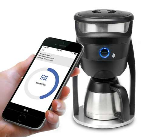 WiFi-Connected Coffee Brewers - This Coffee Brewing Machine is Entirely Controlled via a Smartphone