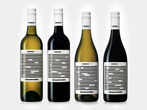 Redacted Document Wine Branding