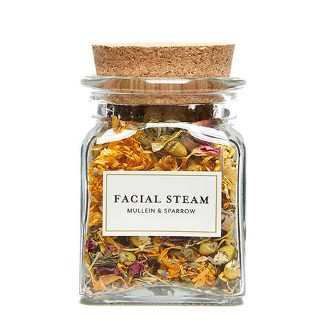 Herbaceous Facial Products - Mullein & Sparrow's Facial Steam Blends Organic Herbs to Detoxify Skin