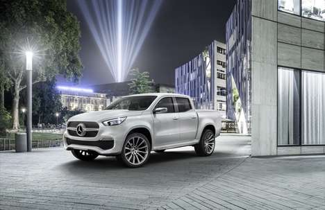 Luxury European Pickup Trucks - The Mercedes-Benz Concept X-CLASS Pickup Truck Vehicle is Premium
