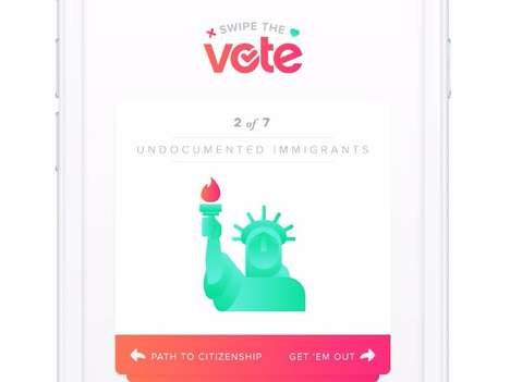 Presidential Swiping Apps - Tinder Brings Back 'Swipe the Vote' to Let Users Swipe on Issues