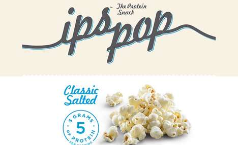 Protein-Packed Popcorn Snacks - Ips Pop Popcorn Provides Serves as a Light, Yet Nutritious Snack