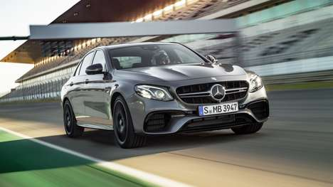 Supercar Luxury Sedans - The Mercedes-AMG E63 S Boasts a Powerful Engine and a Drift Mode