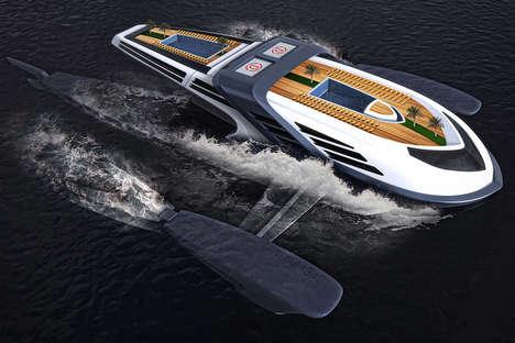 Submerging Luxury Yacht Designs