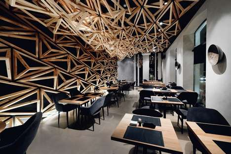 Geometrically Accented Sushi Bars