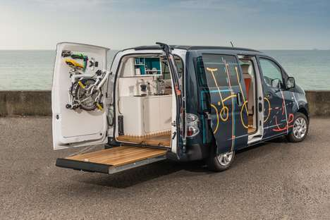 Electric Vehicle Offices - The Nissan e-NV200 Workspace Van Packs Essential Office Components
