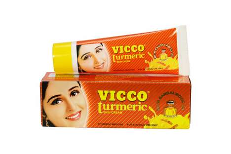 Turmeric-Infused Face Creams - Vicco Turmeric Skin Cream Combines Turmeric Root with Sandalwood