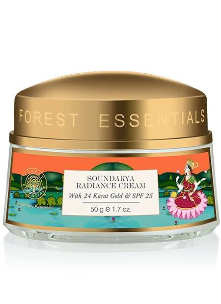 Golden Ayurvedic Skin Creams - Forest Essentials' Soundarya Radiance Cream is Infused with 24K Gold