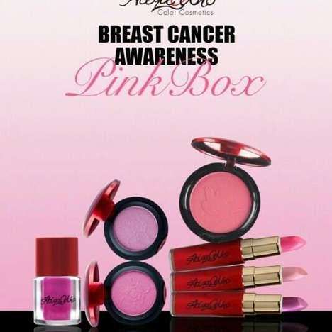 Awareness-Raising Cosmetics - Atiqa Odho Cosmetics' is Selling a Special Breast Cancer Awareness Set