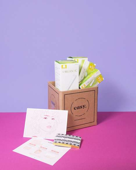 Organic Period Subscriptions - 'Easy' Provides an Alternative to Shopping for Menstrual Supplies