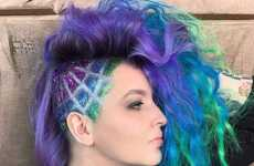 Glitter-Covered Undercuts - Guy Tang Creates Glitter Undercuts That Stand Out with Shape and Sparkle