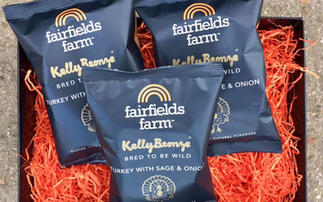 Turkey-Flavored Snack Chips - The Fairfields Farm Kelly Bronze Chips are Festively Seasoned