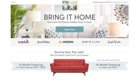 Furniture Brand Credit Cards