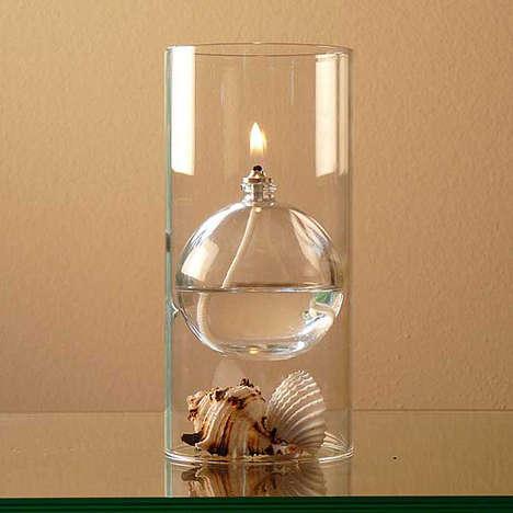 Floating Sphere Oil Lamps