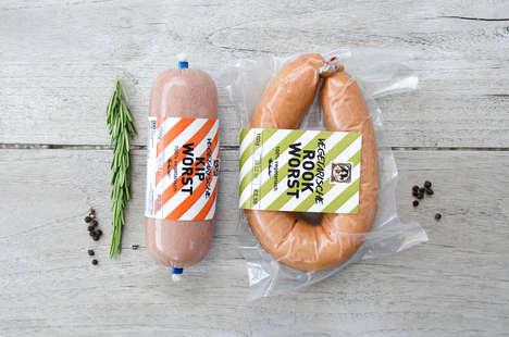 Meaty Vegetarian Product Packaging