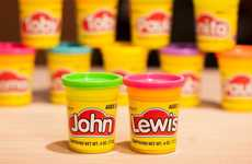 Personalized Clay Tubs - John Lewis and Play-Doh are Now Offering Custom Product Packaging