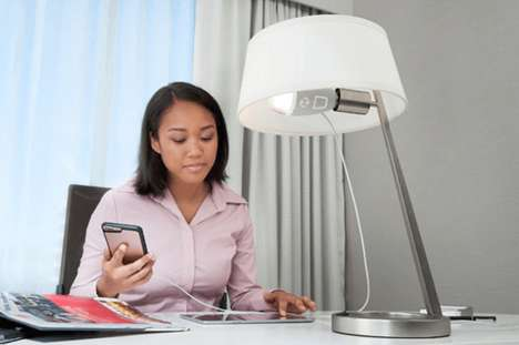 Device-Charging Light Bulbs - This Home Light Bulb Includes a USB for Powering Mobile Devices