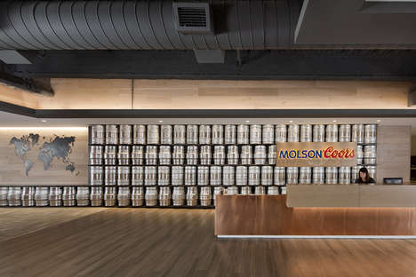 Keg-Covered Office Spaces