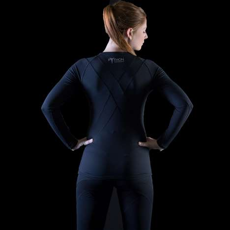 Pain-Relieving Activewear - Python Performance's Contour Compression Collection has Built-In KT Tape