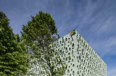 Molecular Facade Designs - Claudio Vilarinho's Facade Takes Inspiration from Solar Panel Molecules