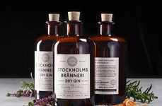 Corked Artisanal Gins - These Craft Gins are Packaged in a Way That is Both Modern and Traditional