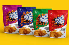 Punchy Chip Snack Packaging - The HARDCORE SPICE SNACKS are Deliciously Branded with Intensity