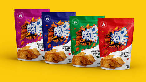Punchy Chip Snack Packaging
