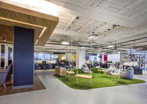Outdoorsy Office Interiors - This Red Bull Office in Mexico Stays True to Its Regional Roots