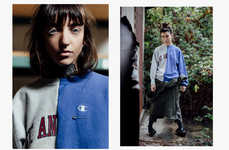 Mismatched Vintage Sportswear - Sobec's Fall/Winter Collection Features Roughly Stitched Apparel