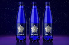 Ethereal Spring Water Branding - This Drinking Water's Packaging is Inspired by Astronomy