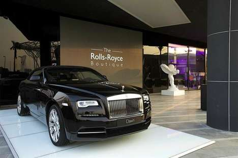 Luxurious Automotive Boutiques - The Rolls-Royce Boutique is an Experiential Showroom in Dubai