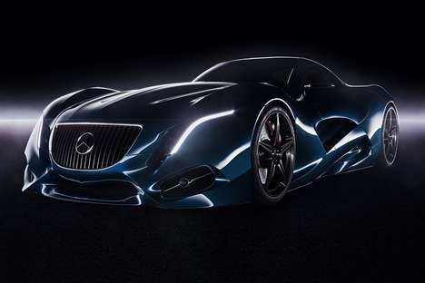Curvilinear Concept Coupe Designs - The Mercedes Concept I Merges the Space Between Vehicle Designs