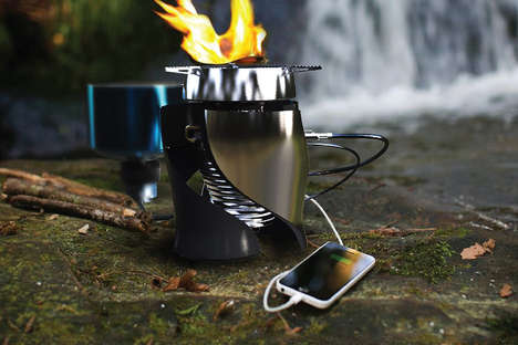 Phone-Charging Camping Stoves