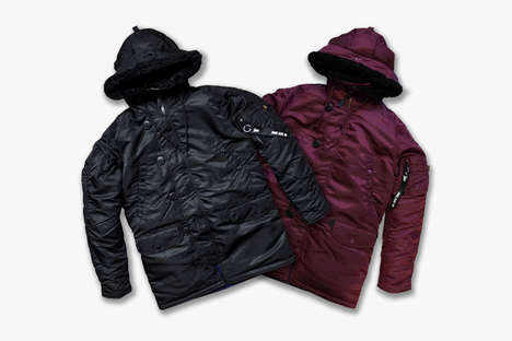 Fashionable Nylon Parkas - Patta and Alpha Industries Partnered for a Line of Stylish Outerwear